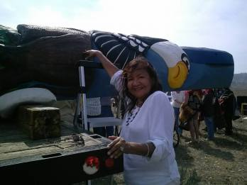 Alaina Buffalo Spirit - I wanted to touch & accept all the blessings from th totem pole!