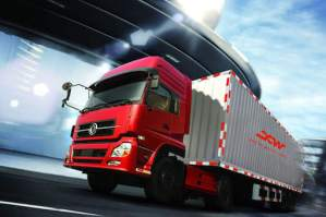 High speed Truck with reflective sticker