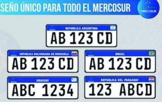 Mercosur License Plate 2018 1