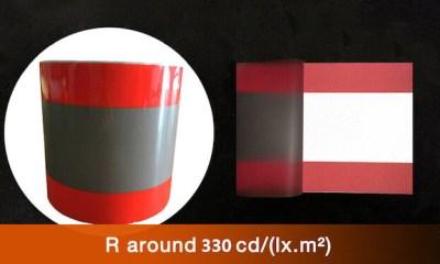 Orange-Sliver-Orange Heating Transfer Vinly