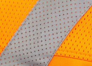 perforated reflective fabric for clothing