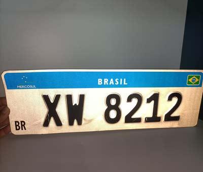 license plate reflective film for Brazil