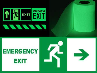 Emergency Sign Made By luminescent film