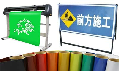 plotter cutting reflective sheeting for construction signs