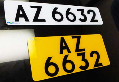 reflective license plate film for Hong Kong XW 5600