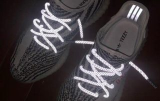 reflective shoes with reflective shoelaces