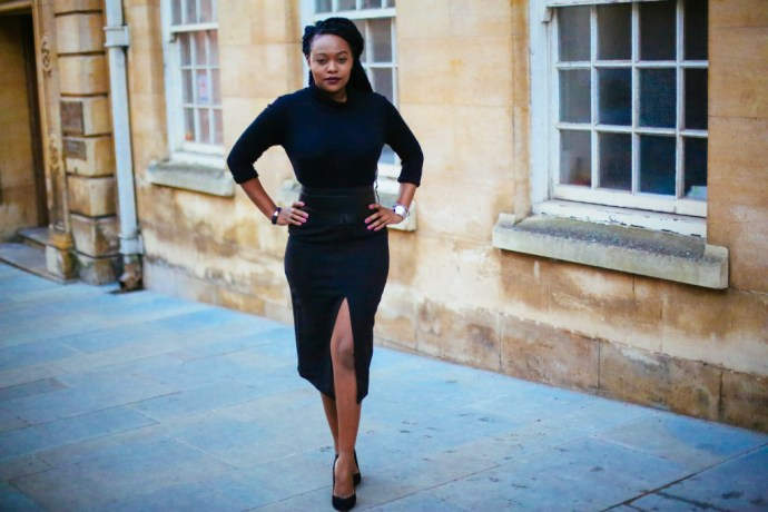 How I wear a high waisted pencil skirt, iamnrc, how to wear a pencil skirt, reiss coat, wrap coat,