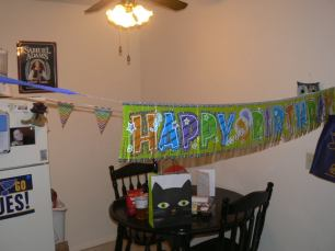 Decorated the Apartment for my boyfriends birthday.