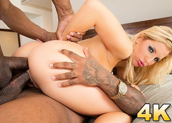 Gets A Surprise Double Black Penetration - Ashley Fires