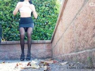 Italian Babe Squirts in Public Parking Lot | CAM4