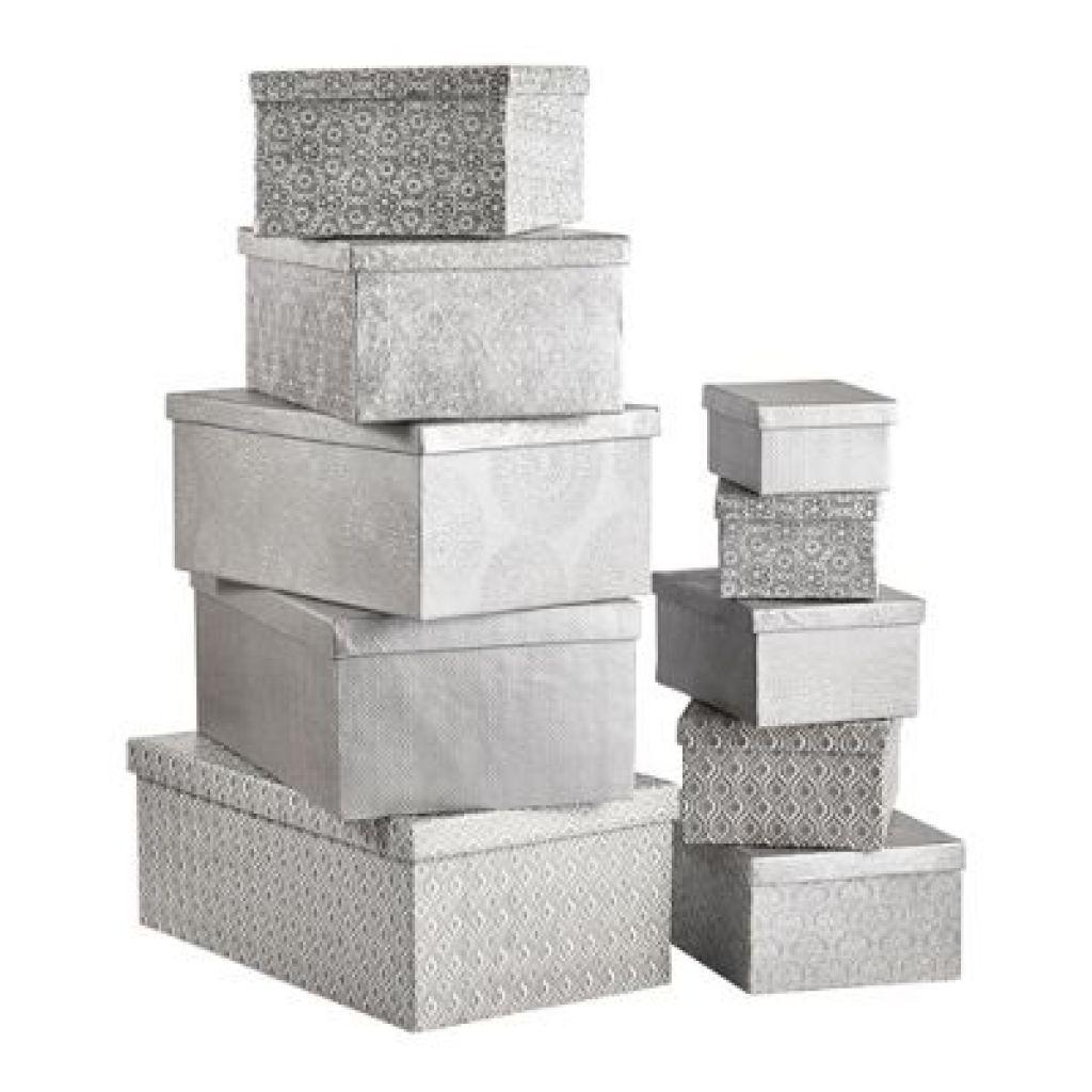 Geschenkboxen-Set von XXXL 10-teilig in silber - nur 39,99€
