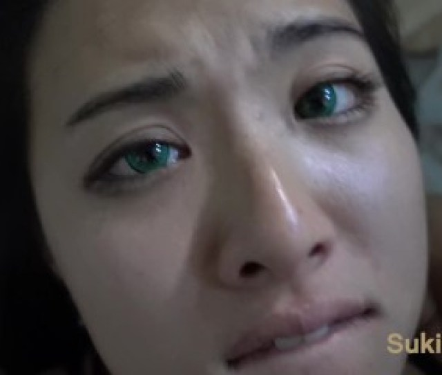 Old Green Eyes Asian Takes Cum All Over Her Face