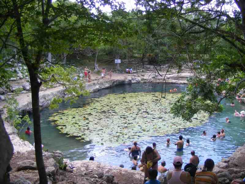the cenote Xlakah