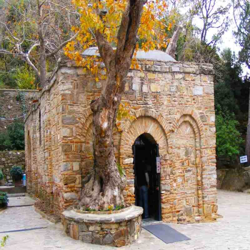 The restored House of the Virgin Mary in Turkey