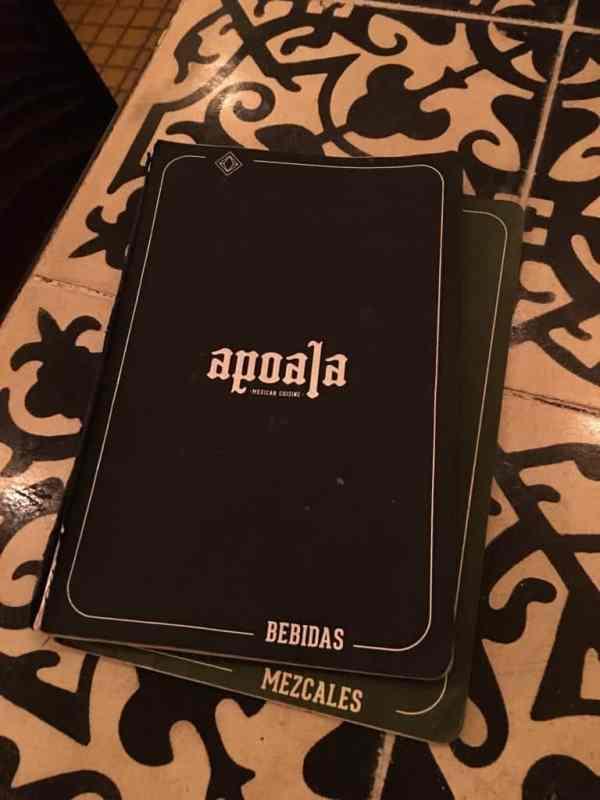 apoala menus best dining in Santa Lucia Parque