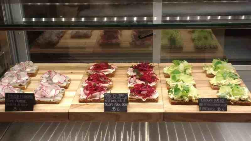 Baltic flatbread sandwiches