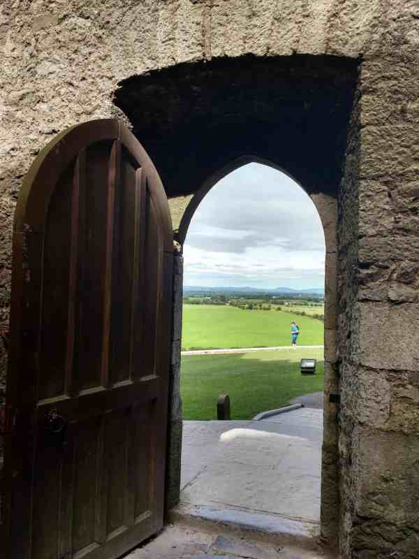 views out to the Galtee Mountains The Rock of Cashel & Hore Abbey in Tipperary Ireland