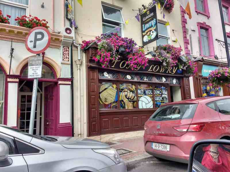 driving through Tipp town to see The Rock of Cashel & Hore Abbey in Tipperary Ireland