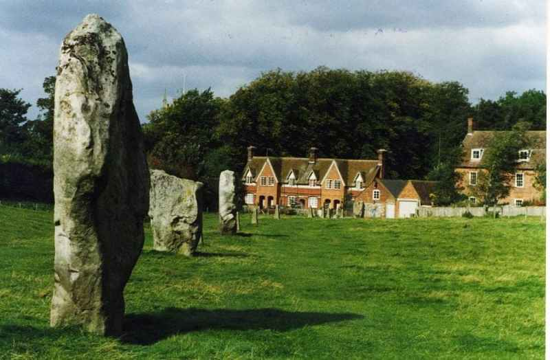 The village of Avebury set in the middle of the henge