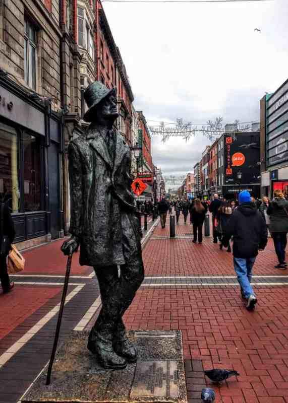 statue to James Joyce in 15 Dublin Don'ts