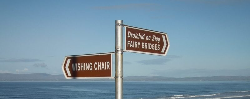 fairy bridge signs at Tullan Strand