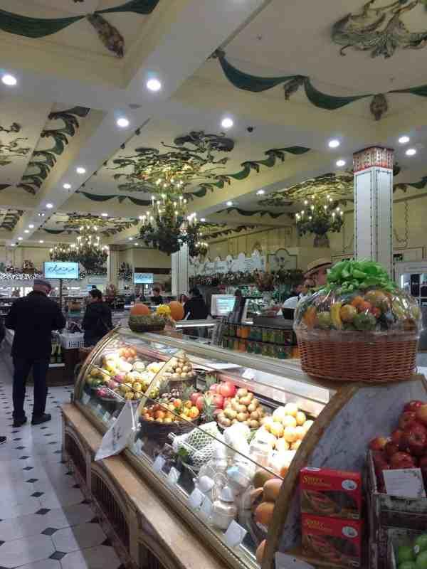 beautiful tiled ceilings in Harrod's food halls