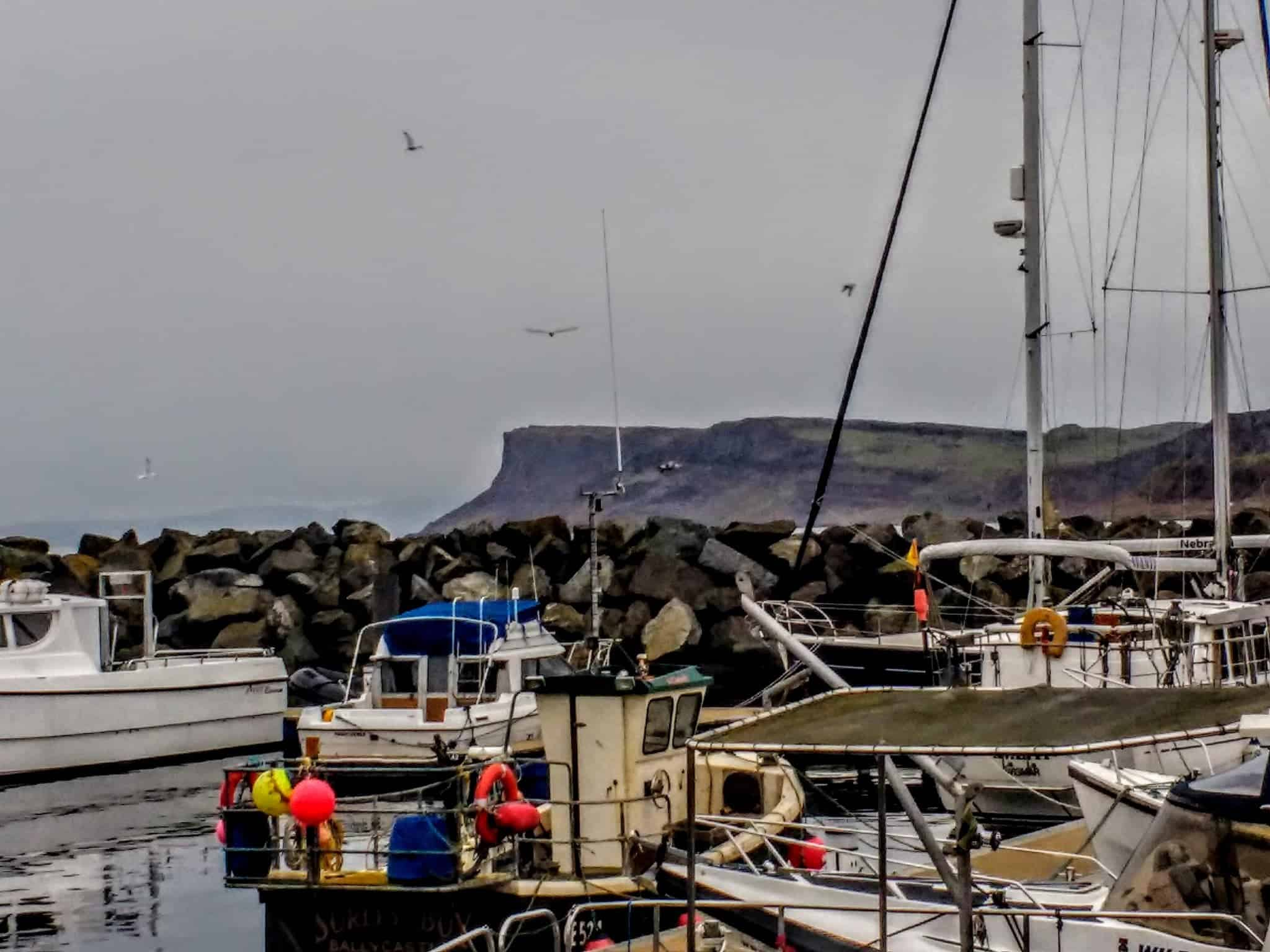 The harbour in Ballycastle