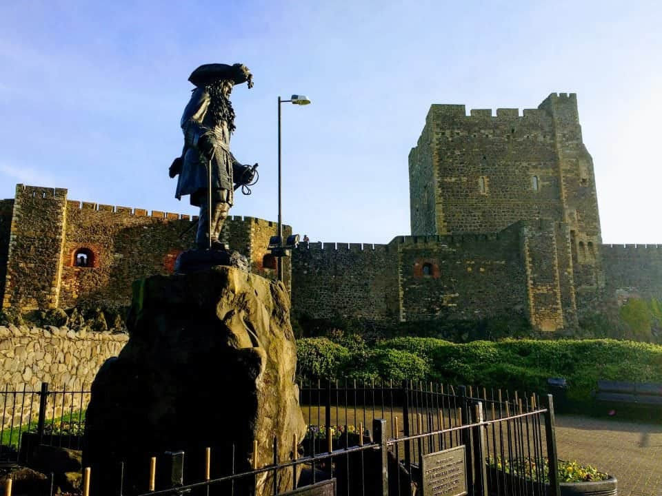 Carrickfergus Castle in County Antrim