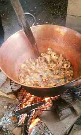 Chicharrones being cooked