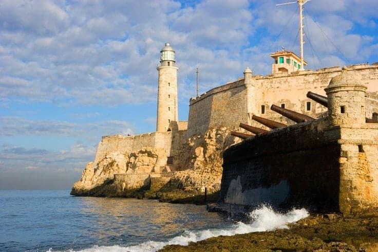 Havana the old wall defences in Cuba