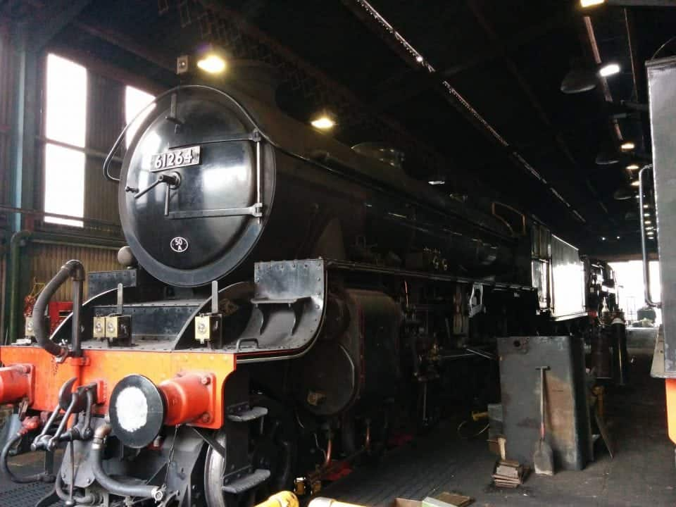 steam train sheds of the NYMR in Grosmont