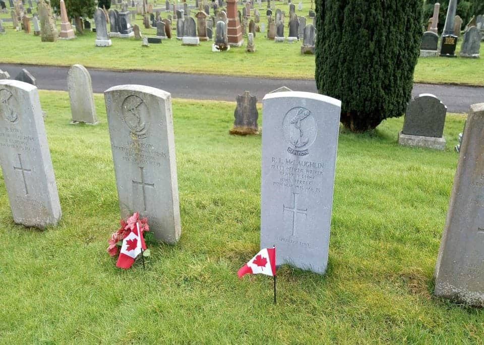 The City Cemetery of Derry with Canadian WWII graves