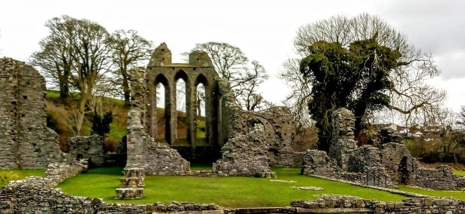 Inch Abbey ruins this is where the War of the 5 Kings is declared and Robb Stark is crowned king