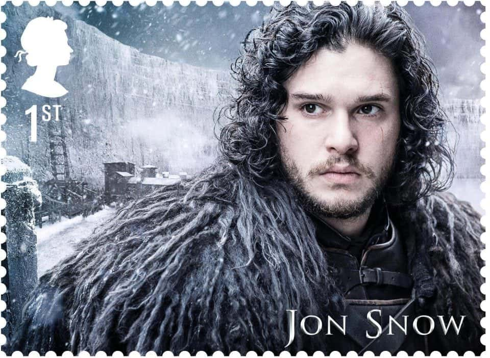 a new stamp with Jon Snow's portrait from the Post Office in N. Ireland