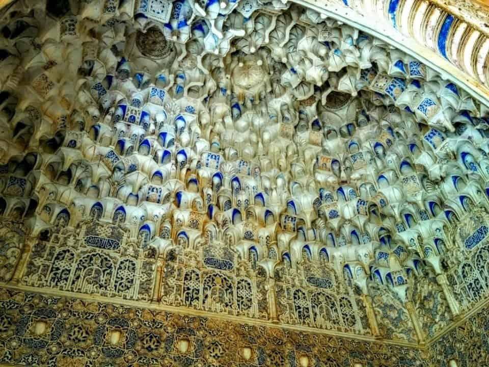 muslim tiles and mosaics at the Alhambra