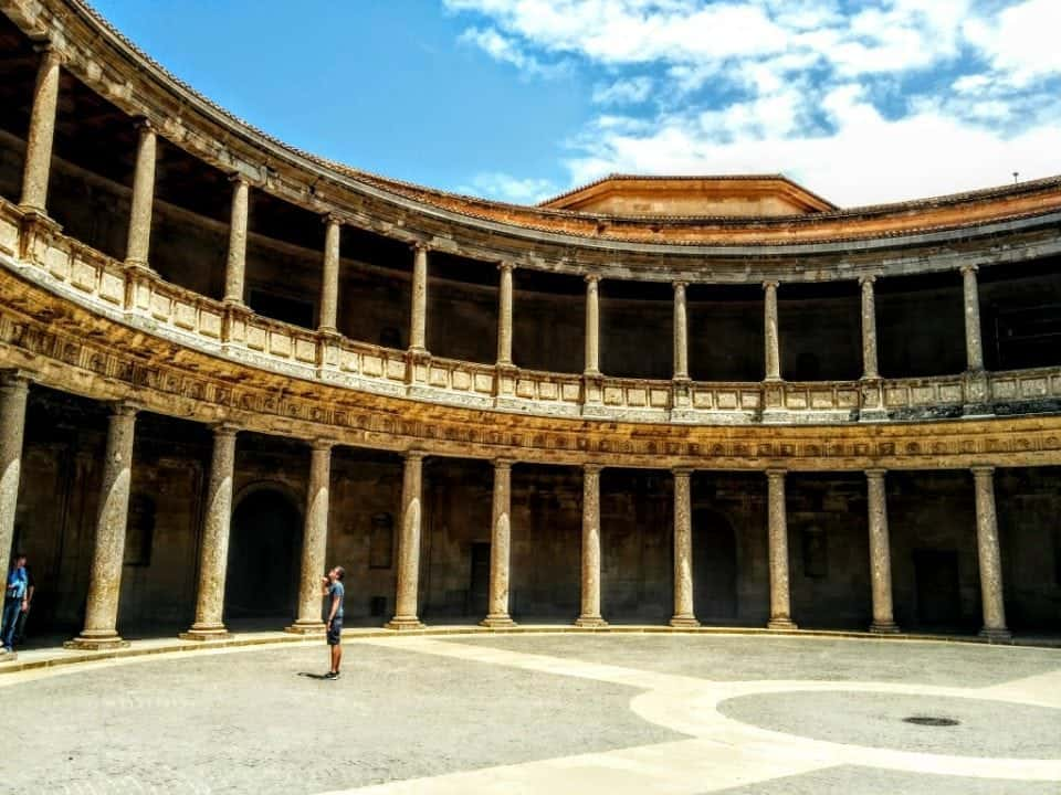Palacio Carlos a renaissance palace at the Alhambra monument in Spain