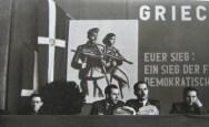 Εκδήλωση στην Ιένα (14.2.1949). Από αριστερά: Γερμανός, Θανάσης Γεωργίου, Υποστράτηγος Λάμπρος, Σικαβίτσας
