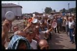 13 Aug 1992, Trnopolje, Bosnia and Herzegovina --- Prisoners in Trnopolje Detention Camp --- Image by © Antoine Gyori/Sygma/Corbis