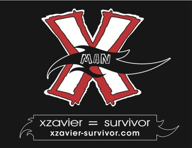 the red X pins logo for the X-Man Foundation copyright Valetta Bradford 2014
