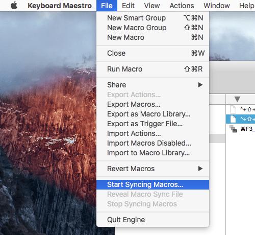 同期元=すでにマクロを作っているMac側