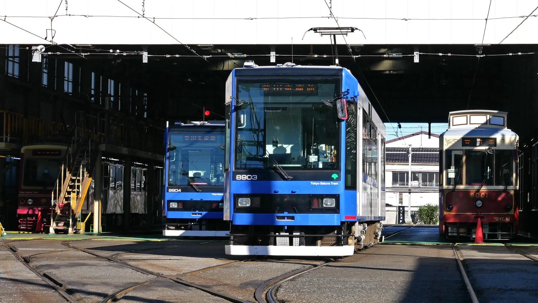 都電荒川線東京さくらトラムの荒川車庫にぶらっと立ち寄ってみた