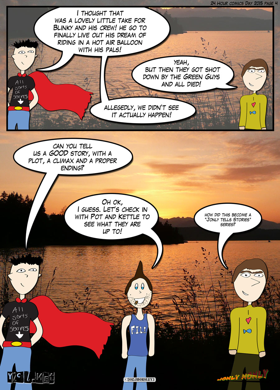24 Hour Comics Day 2015 Page 4 – Tell me more