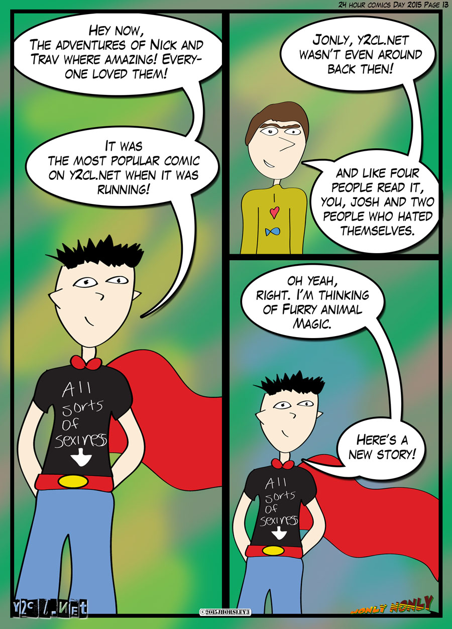 24 Hour Comics Day 2015 Page 13 – Fans of the Hate