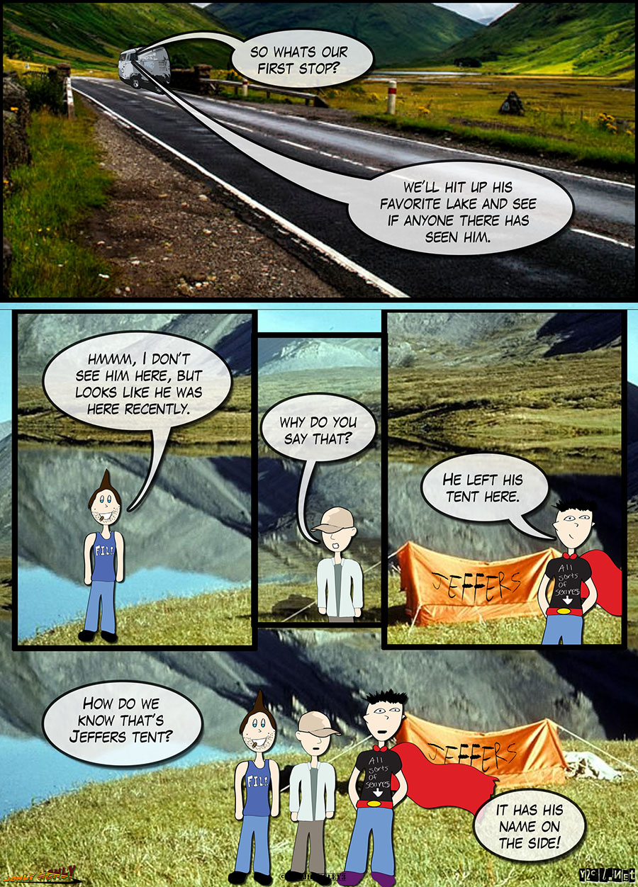 24 Hour Comics Day 2016 – The Search for Jeffers: Jeffer's Tent