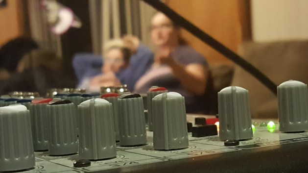 """Obligatory """"from the mixer"""" shot."""