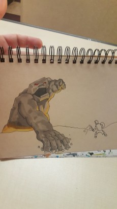 Putting gray on the golem/titen.