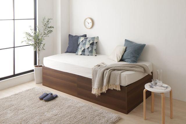 クローゼット並みの収納ベッド