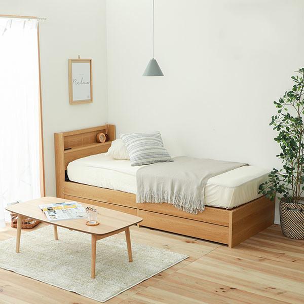 小さくても収納力があるベッド