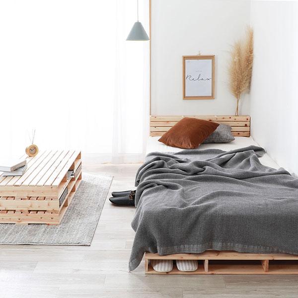 DIY感覚!パレットで作るベッド