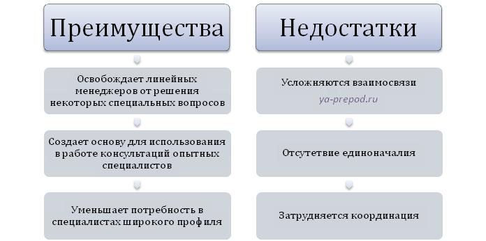 Преимущества и недостатки функциональной структуры Лекция 7 часть 3